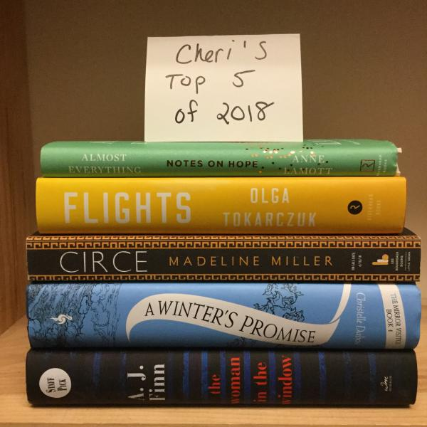Cheri's Top 5 books of 2018