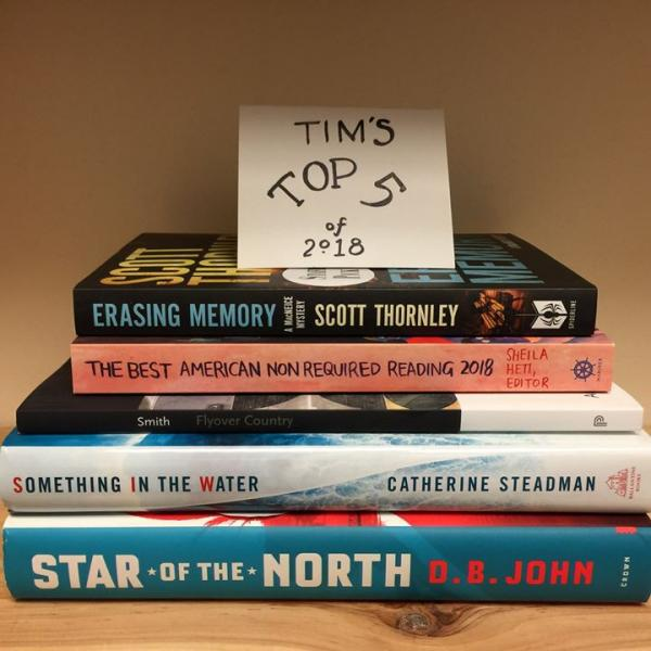 Tim's Top 5 books of 2018
