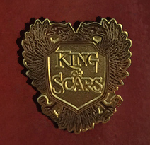 King of Scars book promo free pin